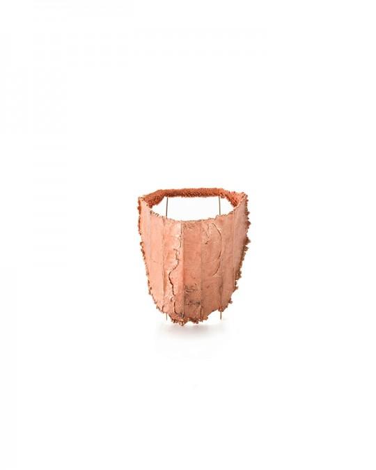 Antípoda 10. 2014. Brooch. Copper, gold. Electroforming. 110x90x65mm. 64,1gr. Photo by Manu Ocaña