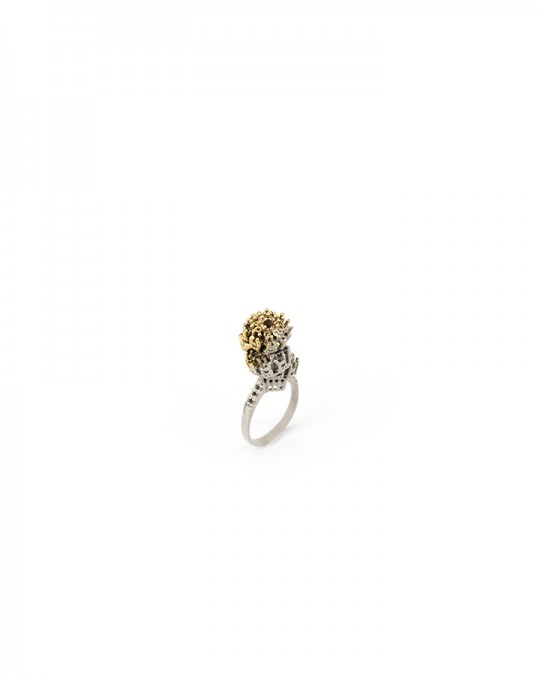 Ring. 2013 Silver, copper, gold. Lost wax casting, electroforming. 30x20x10mm