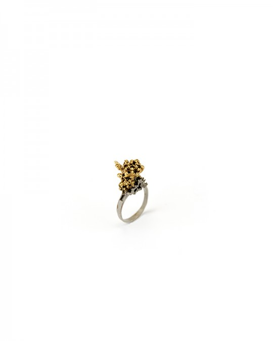 Ring. 2013 Silver, copper, gold. Lost wax casting, electroforming. 25x20x10mm