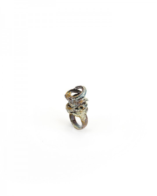 Ring. 2013. Copper, enamel. Lost wax casting. 35x25x10mm