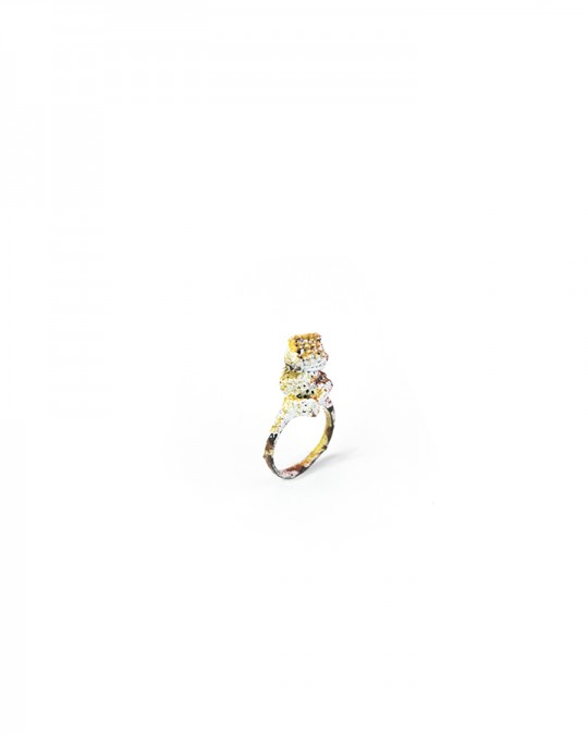 Ring. 2013. Copper, enamel. Lost wax casting. 25x20x10mm