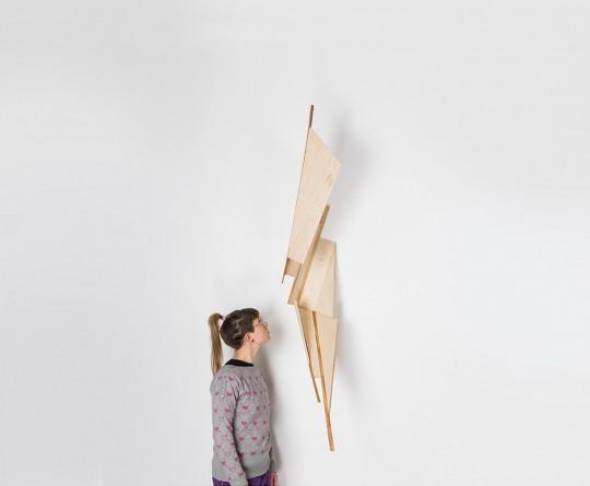 Object. 2013. Wood. 170x30x60cm with Eva Burton. Photo by Manu Ocaña