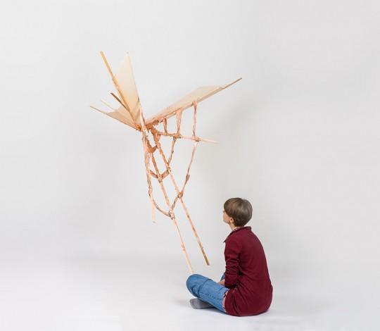 Object. 2013. Wood. 160x120x110cm. Photo by Manu Ocaña