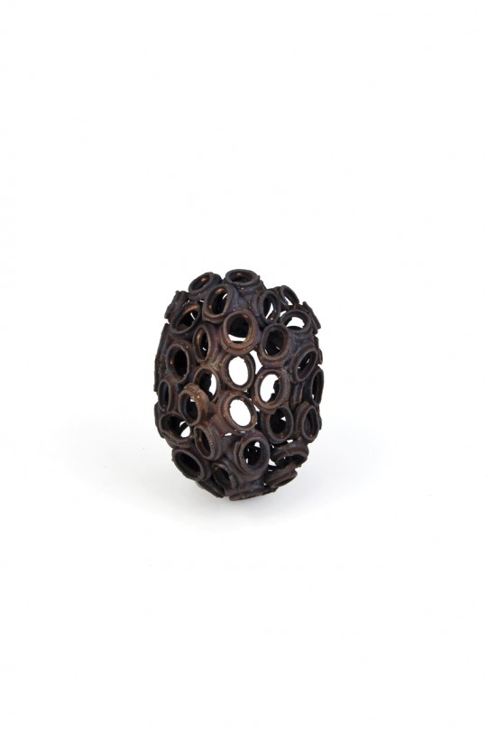 Revival 6. 2012. Brooch. Copper. Electroforming. 94x72x45mm. 51,4gr