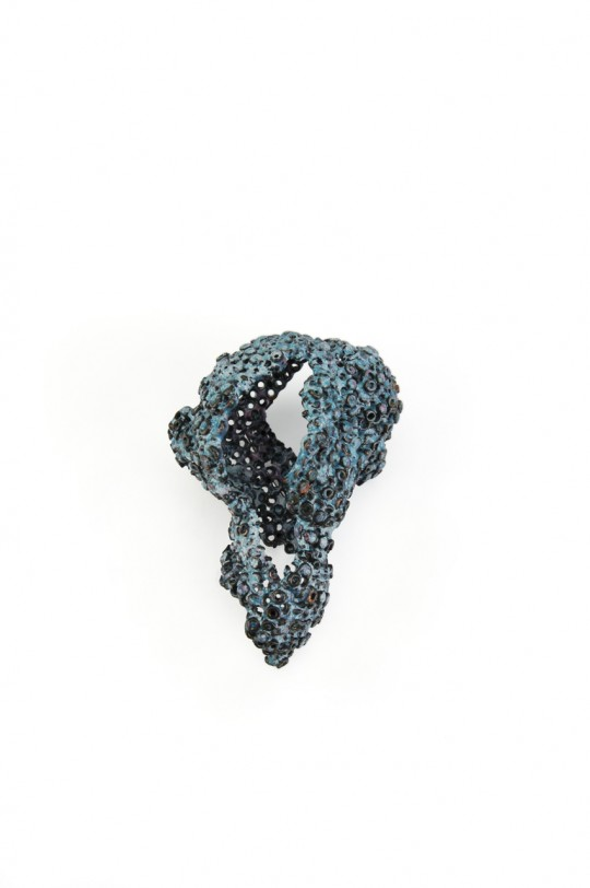 Revival 2. 2012. Brooch. Copper, enamel. Electroforming. 105x71x47mm. 55,4gr