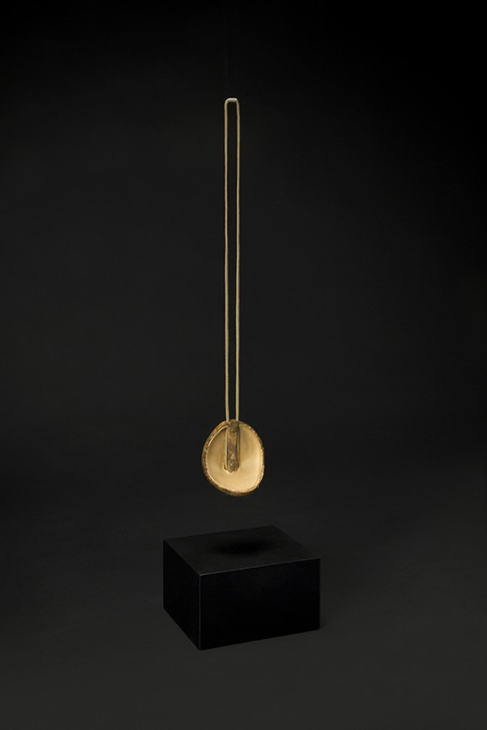 in collaboration with Klein & Becker GmbH & Co. Pendant. 2015. Mold F2. Jasper, copper, gold. Stone Cutting, CNC Machining, electroforming. 100x95x65 mm 176gr.